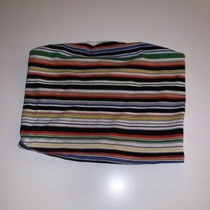 Colorful striped tube top